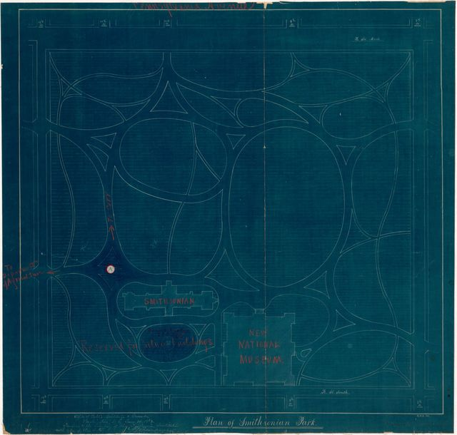 Plan of Smithsonian Park : [part of the Mall, Washington D.C.] /
