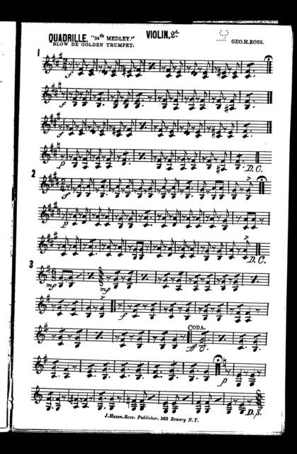 Quadrille; Blow de golden trumpet