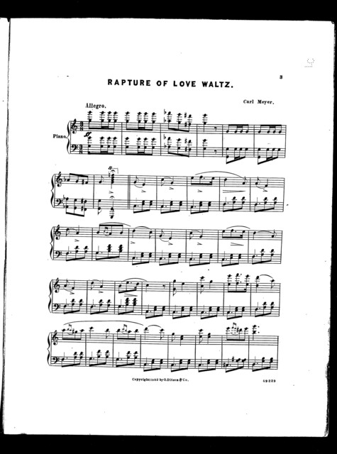 Rapture of love waltz