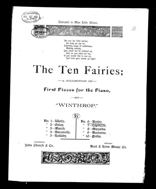 Rondo [from] The Ten fairies