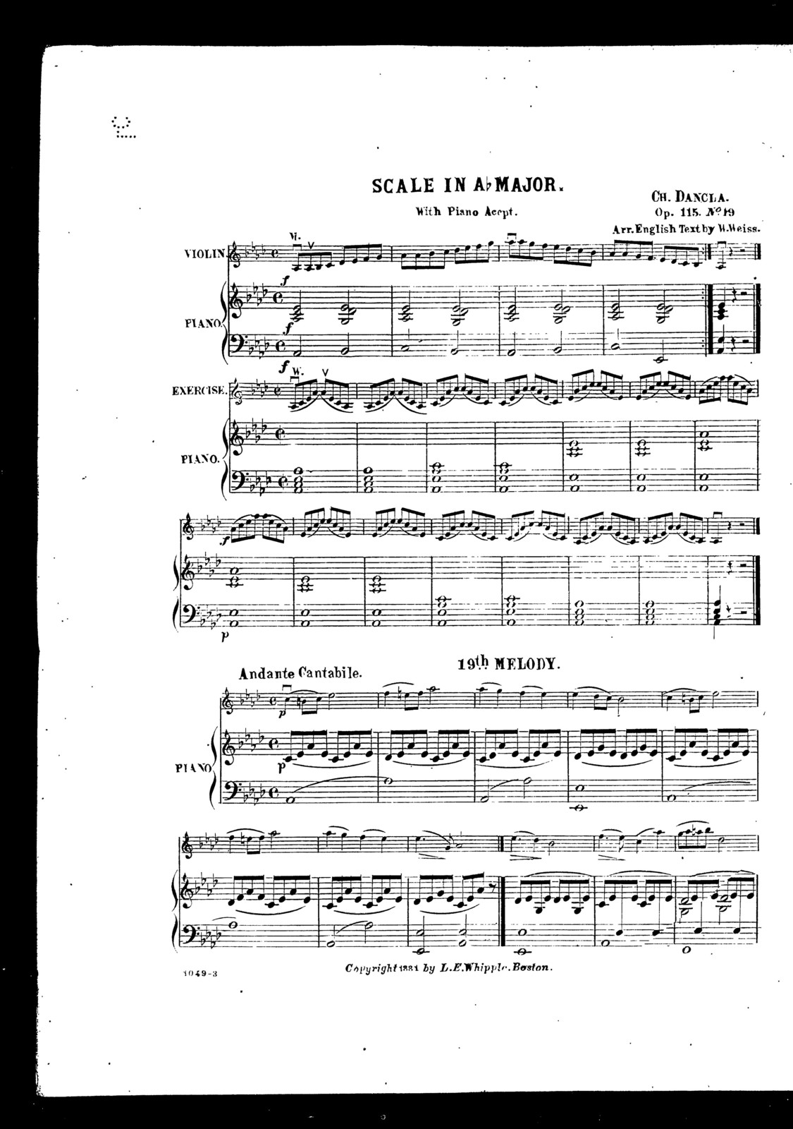 Scale in A-flat major