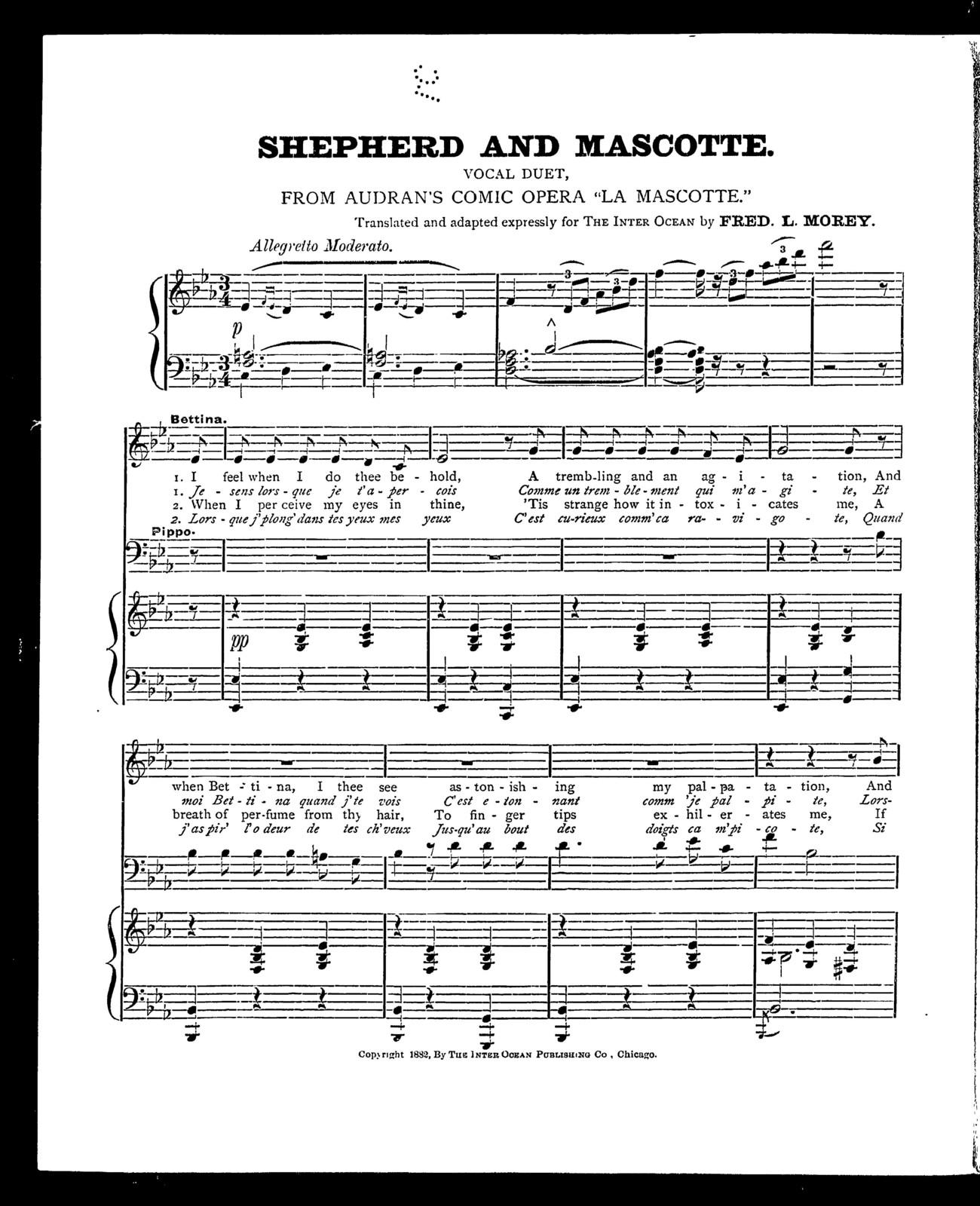 Shepherd and mascotte [from] La Mascotte
