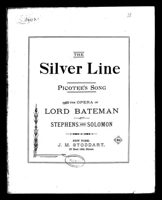 Silver line, The [from] Lord Bateman