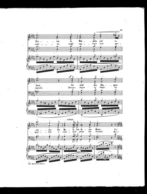 Sñgers fluch, Des - The Minstrel's curse [piano]