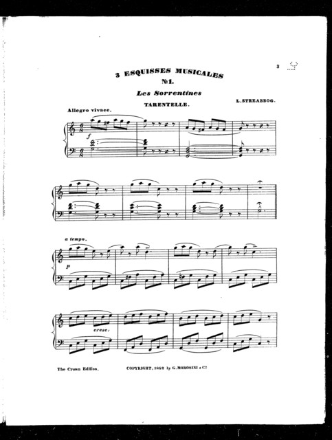 Sorrentines tarentelle, Les, no. 1 [from] 3 Esquisses musicales