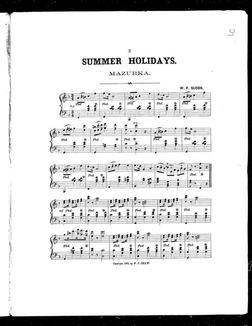Summer holidays; Mazurka