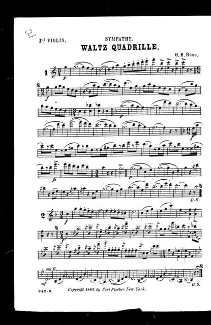 Sympathy; Waltz quadrille