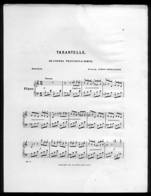 Tarantelle de l'opera Francisco di Rimini