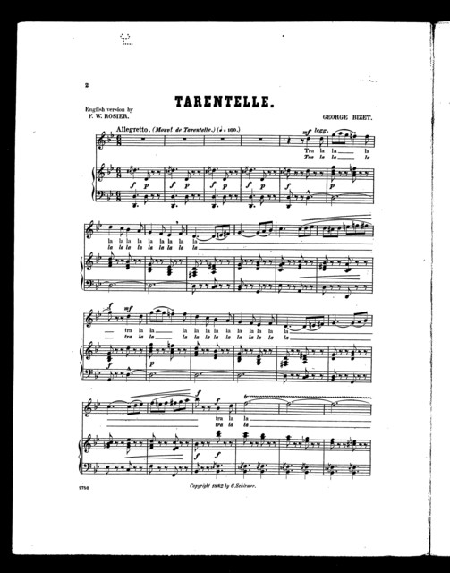 Tarentelle [soprano or tenor]