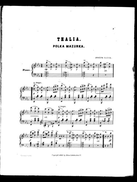Thalia; Polka mazurka
