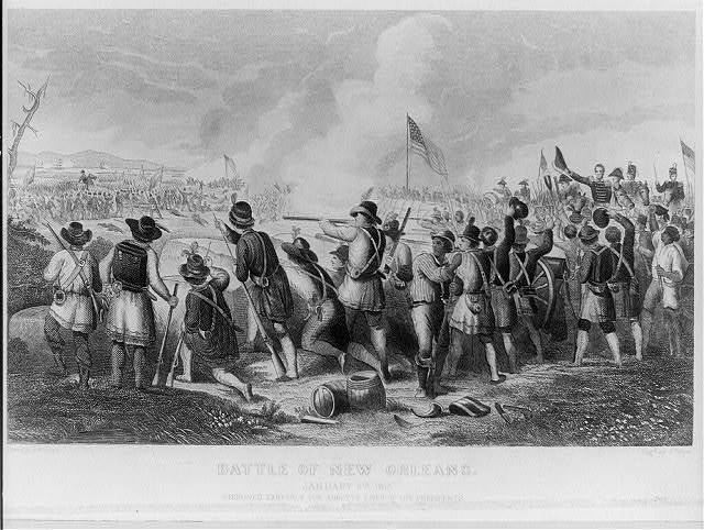 The Battle of New Orleans January 8th 1815 / drawn by O. Pelton ; engd. by H. Billings.