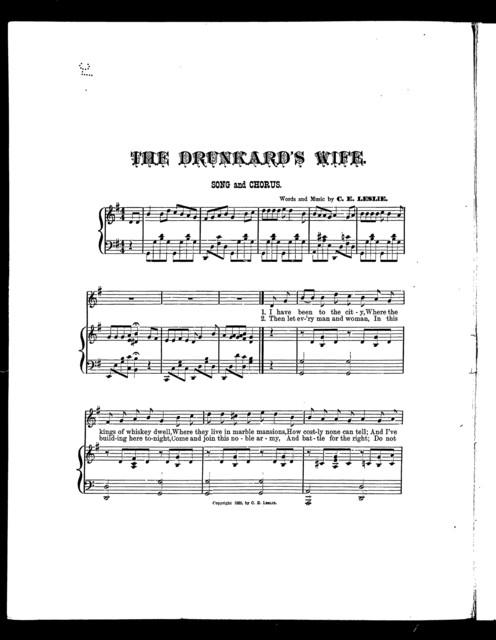 The  Drunkard's wife