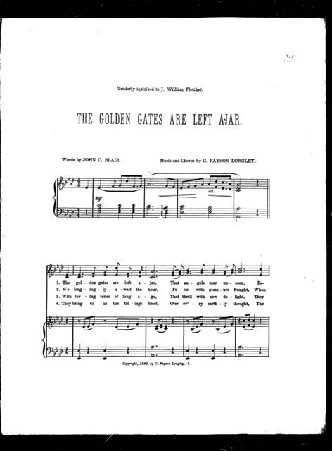 The  Golden gates are left ajar
