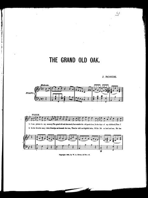 The  Grand old oak
