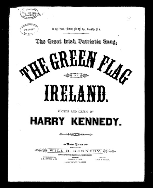 The  Green flag of Ireland