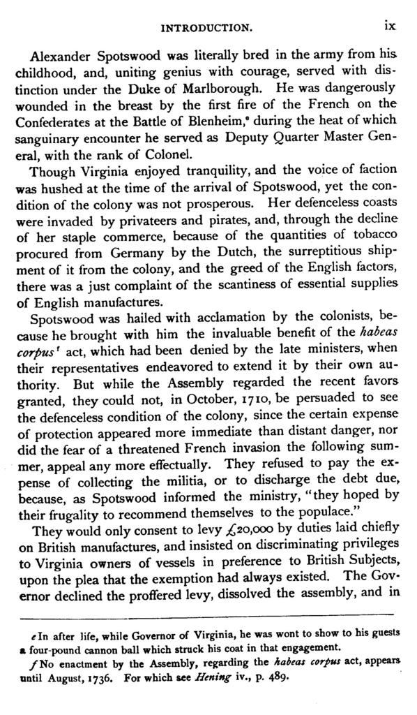 The official letters of Alexander Spotswood, lieutenant-governor of the colony of Virginia, 1710-1722, now first printed from the manuscript in the collections of the Virginia historical society,