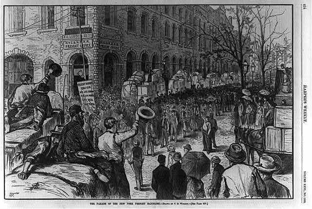 The parade of the New York [striking] freight handlers