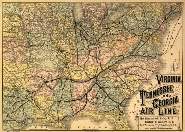 The Virginia, Tennessee, and Georgia Air Line; the Shenandoah Valley R.R.; Norfolk & Western R.R.; East Tennessee, Virginia, & Georgia R.R. (its leased lines,) and their connections.