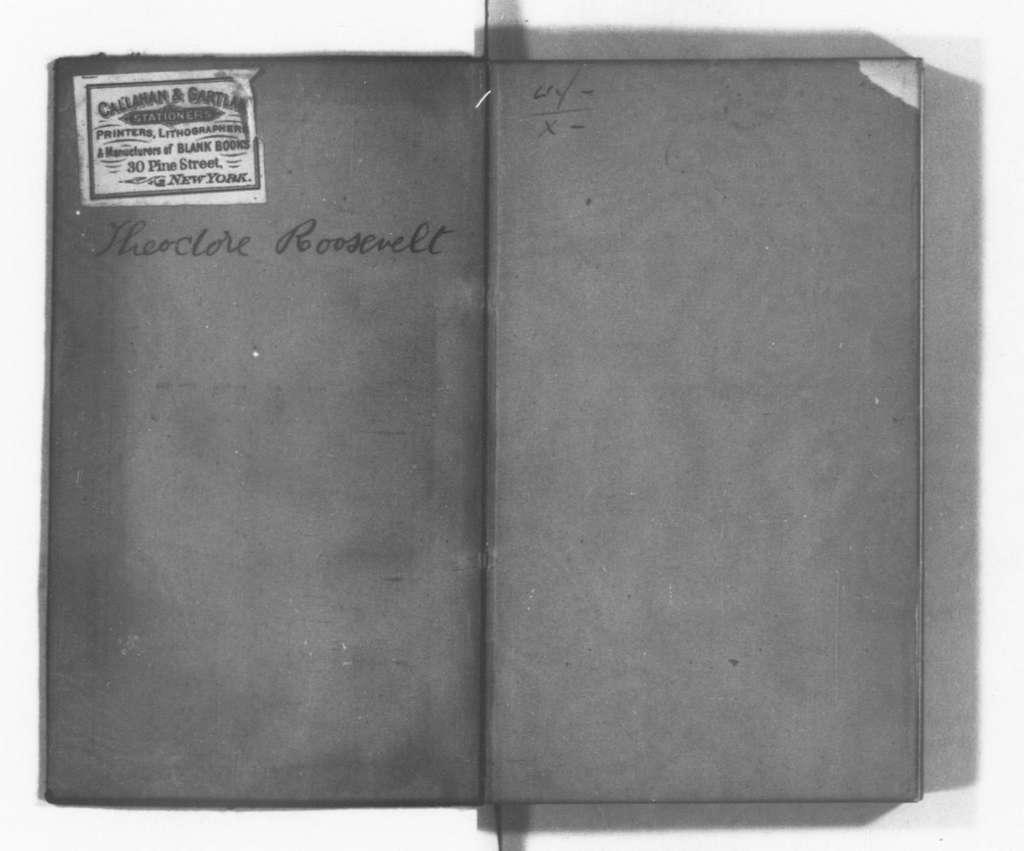 Theodore Roosevelt Papers: Series 8: Personal Diaries, 1878-1884; Vol. 5, 1882, Jan. 1-Feb. 15