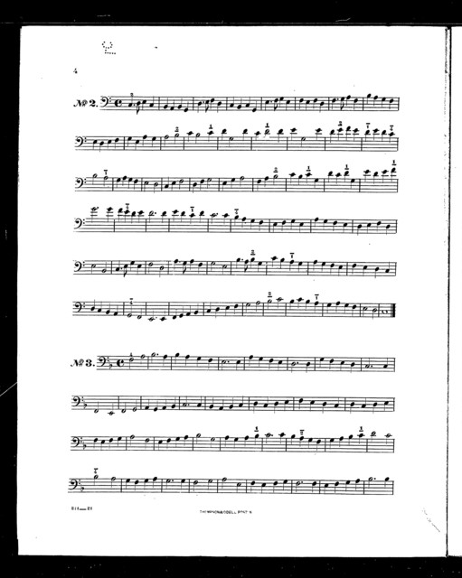 Thirty-one easy exercises for the contra bass