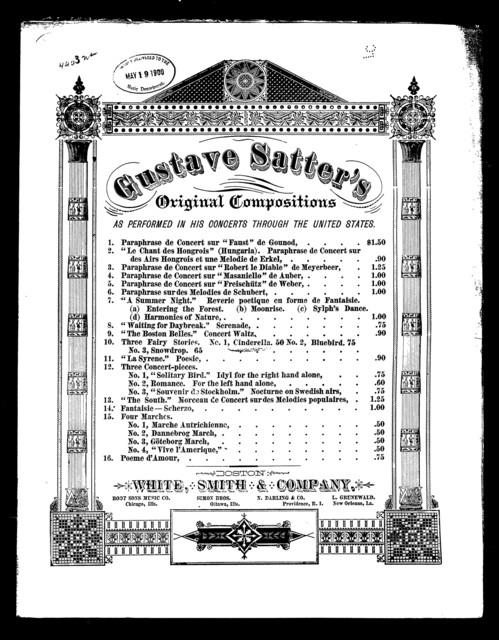 Trois contes de fees; Cendrillon, no. 1
