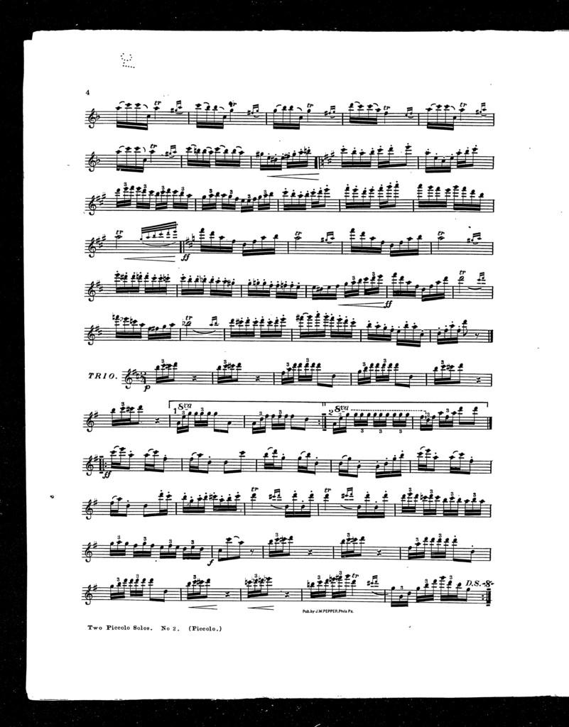 Two Piccolo solos