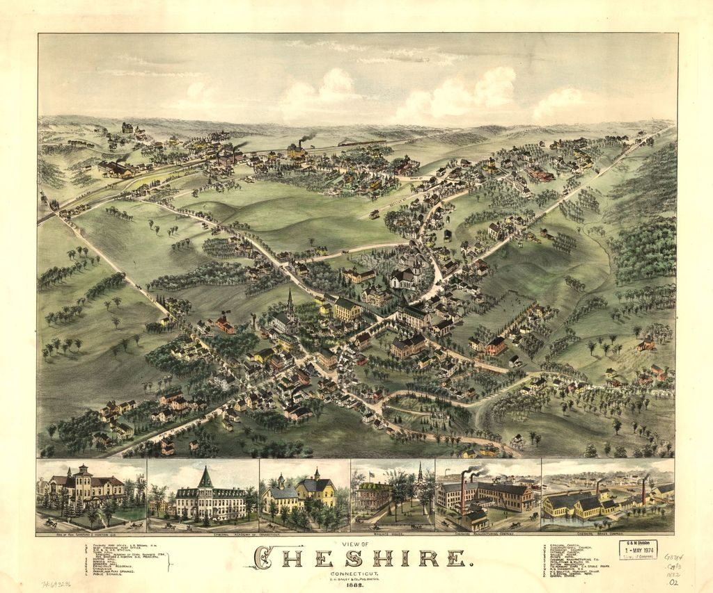 View of Cheshire, Connecticut 1882.