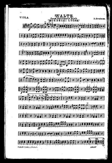 Waltz [and] Schottisch [from] Mordecai Lyons