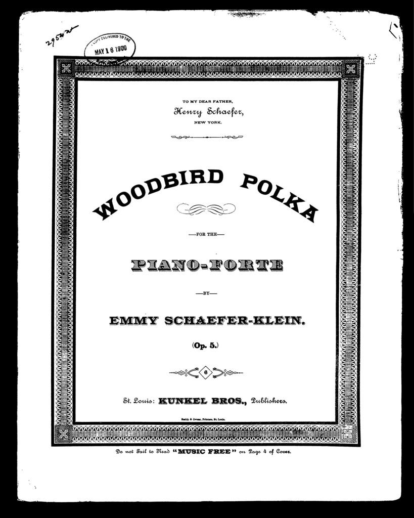 Woodbird polka; Pic̈e descriptive