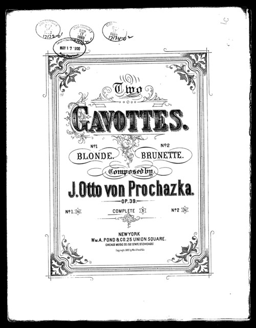 Blonde gavotte [and] Brunette gavotte