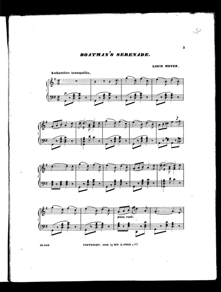 Boatman's serenade