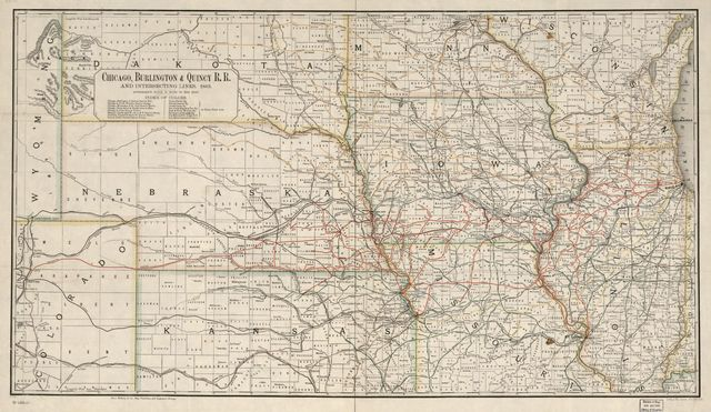 Chicago, Burlington & Quincy R.R. and intersecting lines, 1883.
