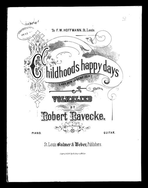 Childhoods happy day - Aus der jugendzeit