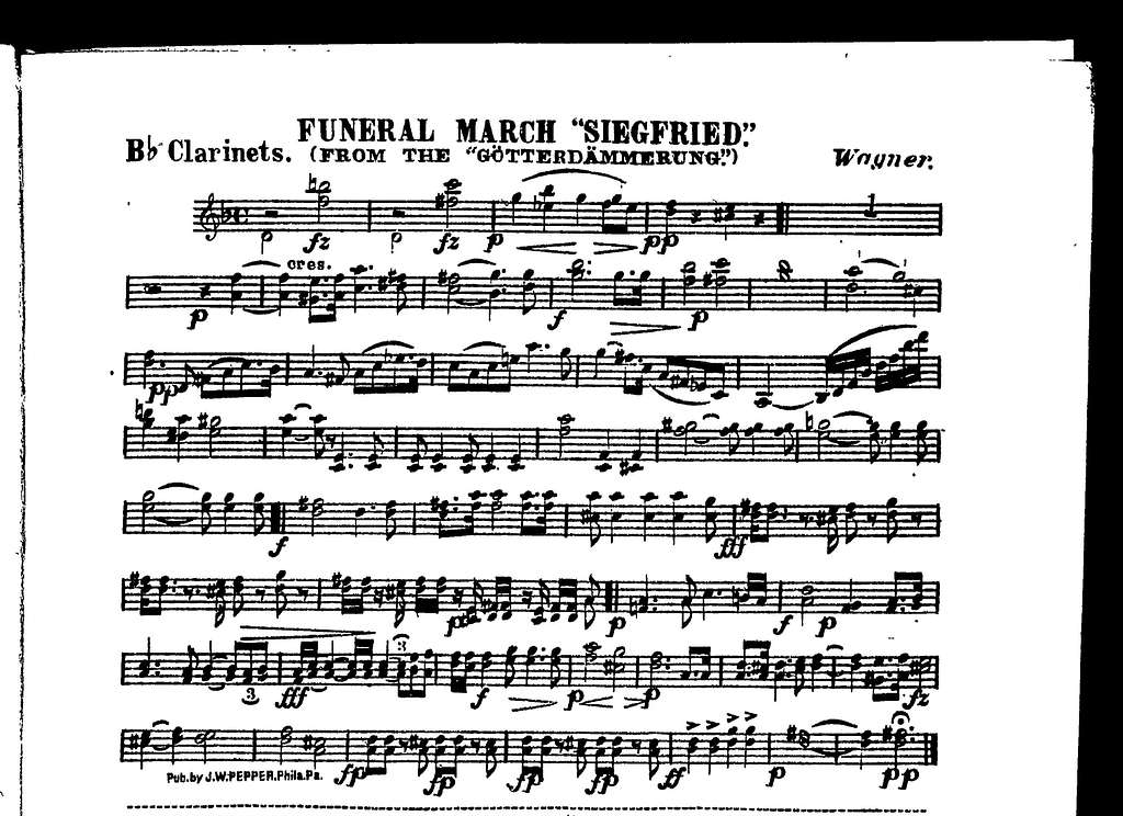 """Funeral march """"Siegfried"""" from Gt̲terdm̃merung"""
