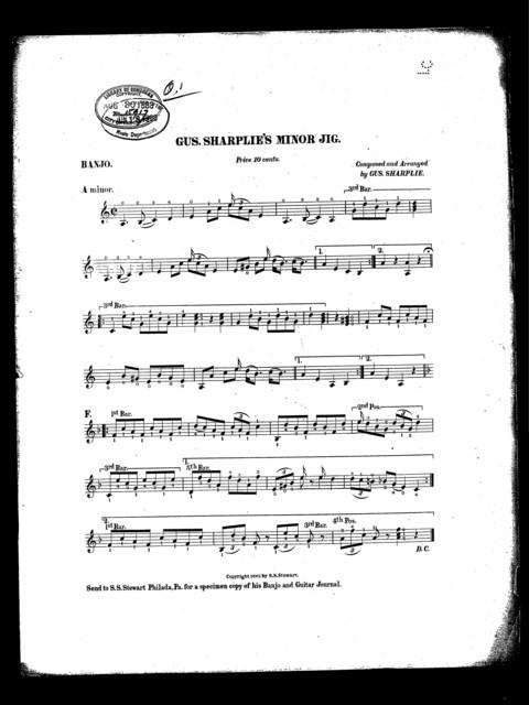 Gus Sharplie's minor jig