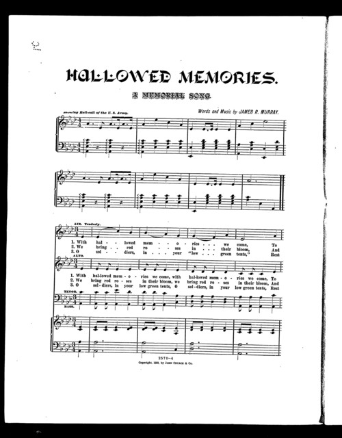 Hallowed memories; A Memorial song