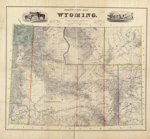 Holt's new map of Wyoming : compiled by permission from official records in U.S. Land Office /