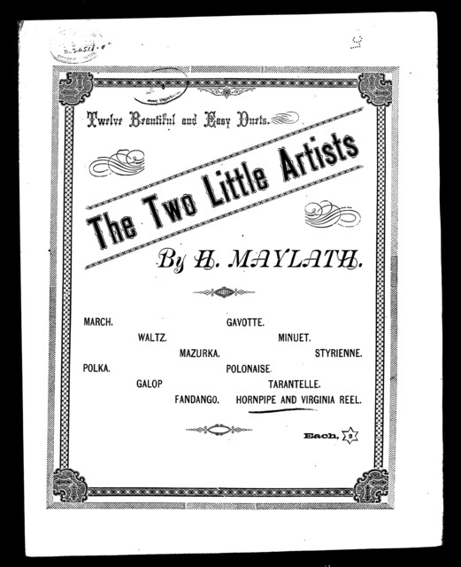 Hornpipe and Virginia reel [from] Two little artists