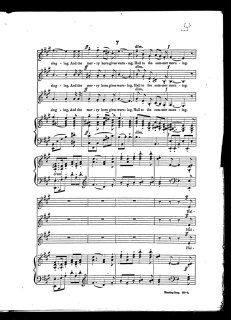Hunting chorus from Fairy cantata