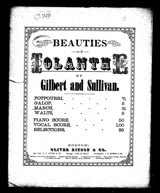 Iolanthe; March of the peers