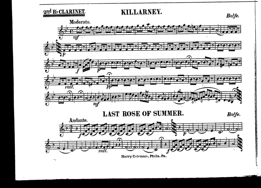 Killarney [and] Last rose of summer