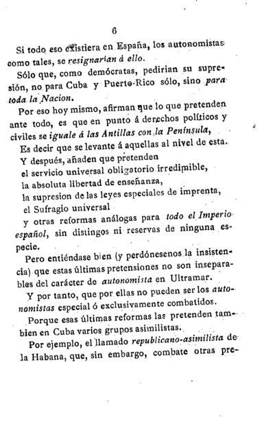 La autonomía colonial artículo publicado por el periódico La Tribuna de Madrid el 8 de febrero de 1883 /