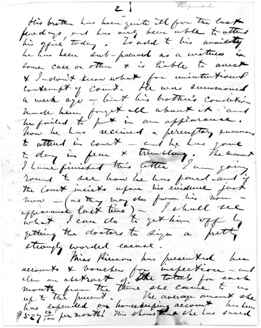 Letter from Alexander Graham Bell to Mabel Hubbard Bell, July 9, 1883