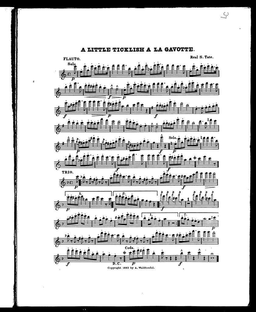 Little ticklish a la gavotte, A [orchestra]