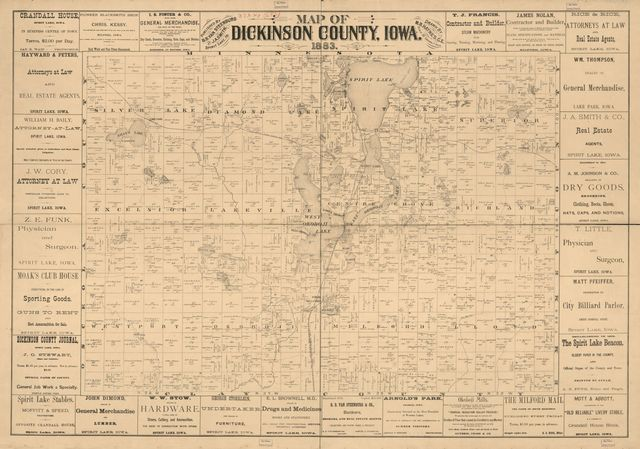 Map of Dickinson County, Iowa /