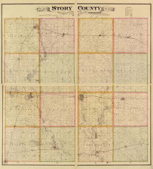 Map of Story County, Iowa : drawn from actual surveys and the county records.