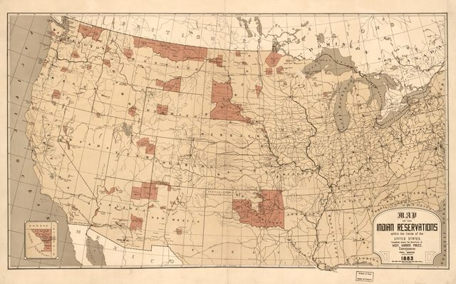 Map showing Indian reservations with the limits of the United States : 1883 /