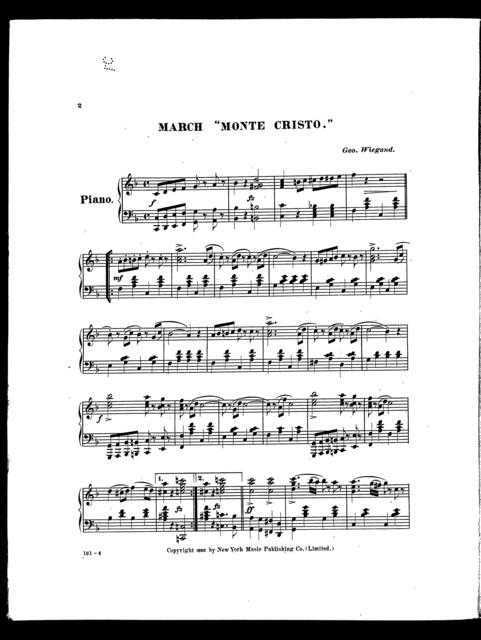 """March """"Monte Cristo"""""""
