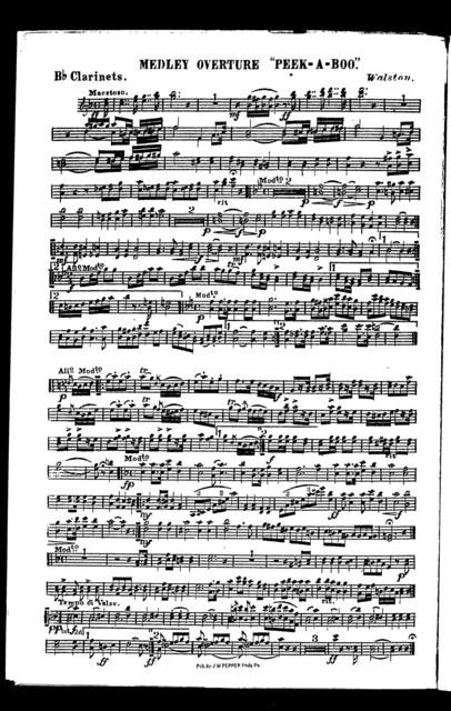 """Medley overture """"peek-a-boo"""""""