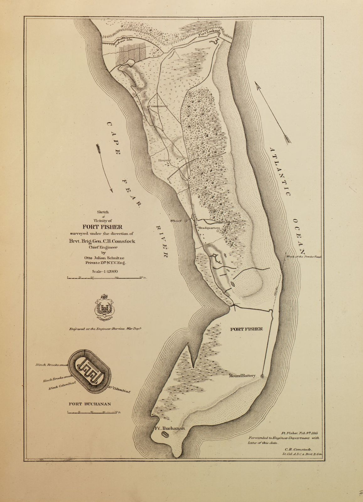 Military maps of the United States.